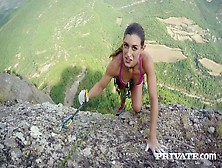 Sexy Climber Julia Roca Enjoys Riding Hard Peak Which Belongs To