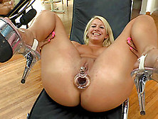 Jamming All Of Her Toys In Her Two Tight Love Holes