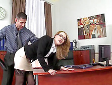 Hot Blonde Kandall At Office Always Gets Her Way Whether Her Mal