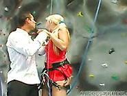 Sporty Blonde Bright Rock Climber Gets Pussy Brutally Fucked Fro