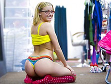 Adorable Teen Slut With Pierced Nipples Is Ready To Misbehave.  S