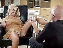 Sexy Blonde Jesse Jane Gets Covered In Whip Cream Then In Cum