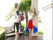 2 Beautiful And Sexy Cheerleaders Blondes.
