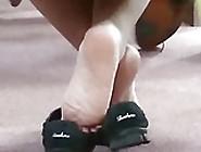 A Friend's Candid Beautiful Ebony Soles & Shoeplay