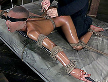 Great Shag During A Bdsm Session With A Chick Who Craves Hard Di