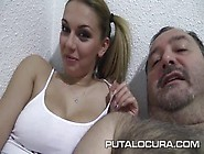 Bootiful Young Latina Babe Daniela Rides Hard Cock Of An Old Dud