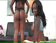 Hot Booty Black Girls Tease And Suck White Dick