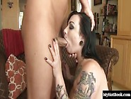 Scarlet Lavey Is A Hot Brunette Slut With Tattoos Who Has A Litt