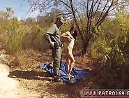 Hanging By Her Tits Oficer Of Patrol Agrees To Help Redhaired