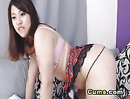 Cums - Curvy Asian Babe Rubs Pussy And Fucks Ass With Dildo