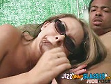 Black Cum On Her Glasses Julia Bond Interracial