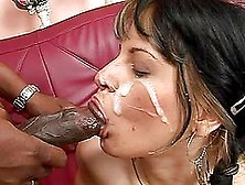 Kinky Brunette Girl Drinks Pee And Gets Fucked By Black Guy