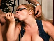Honey Gets Her Large Tits Squeezed Hard And Gives Handjob