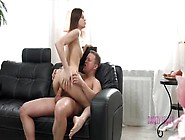 Barely Legal Brunette Teen Anne Fucks Like A Pro For A Load On H