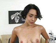 Short Haired Brunette Sucking A Casting Agents Dick With Lust