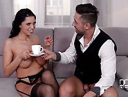 Bored Housewife Seduces Guest