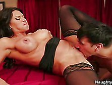 The Busty Whore In Black Stockings Leena Sky Mercilessly Fucked