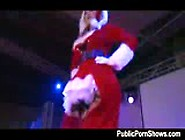 Delicious Stripper In Santa Costume Getting Naughty And Dirty On