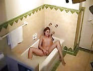 Not My Cute Sister Masturbates In Bath Tube.  Hidden Cam