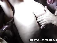 Dark Haired,  Amateur Girl With Pigtails Is Having Wild Sex With