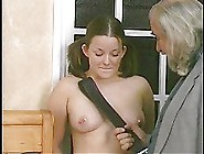 College Girl Spanked On A Bed
