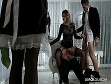Anna Polina Banged By Two Men Before Her Servants