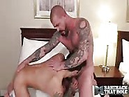 Brawny Hunk Face Fucking His Lover In A Hotel Room