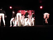 Big Blonde Buttocks In Western Burlesque Dance