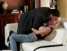 Pornstar Jesse Jane Rides And Milks Cock On The Couch Hardcore S