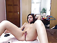 Busty Amateur Brunette Teenie Plays With Her Gash On Webcam
