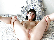Foxy And Nasty Japanese Chick Is Showing Her Shaved Cunt