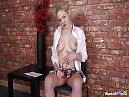 Stripping Schoolgirl Gives You Naughty Joi