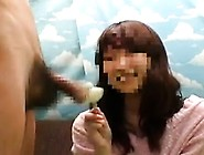 Shy Asian Girl Thinks It's Funny When He Sticks His Cock In