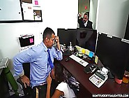 A Horny Employee Is Fucking His Boss'S Kinky Step Daughter,  Whil