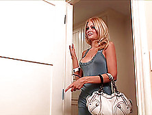 Riley Steele Gives Head And Enjoys Ardent Rear Pounding Indoors