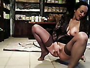 Kinky And Sexy Gf Masturbating On A Floor While At Work