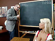 Curvaceous College Slut Bridgette B Gives Her Teacher A Nice Blo