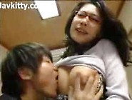 Horny Busty Japan Mom In Red Glasses