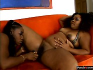 Plump Ebony Lesbians Jessica Allbutt And Nikole Richie Eat Each