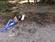 Tiny Hottie Gets Fucked After A Pick Up On The Beach