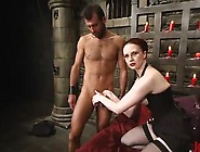 Dissolute Red Head Slut Ties The Chap Up And Tortures His Bolloc