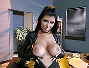 Romi Rain Doesn't Feel Shy Showing Off Big Boobs To Black Man