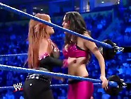Smackdown 11-21-2008 The Bellas Vs Natalya Victori