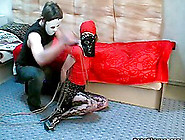 Kinky Bondage With Pantyhose Girl