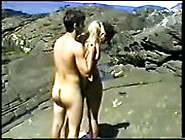 Outdoor Sex On Rocky Beach With Blonde Slut Sucking And Riding H