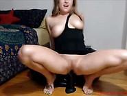 Sexy Milf Fucks Huge Black Dildo And Squirts