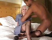 Horny Blonde Milf Getting Rammed By Two Big Black Cocks