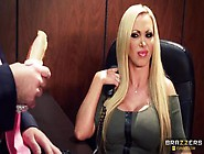 Blonde Sex Video Featuring Nikki Benz,  Keiran Lee And Summer Bri