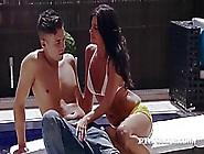 Seductive Brunette In Sandals With High Heels,  Soraya Rico Despe