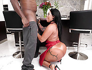Big Ass Brazilian Monica Santhiago Attacks Mandingo's Huge Cock